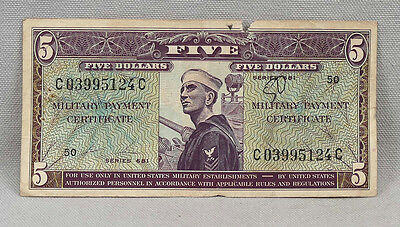 Vietnam MPC Series 681 $5 Five Dollar Military Payment Certificate US Note!