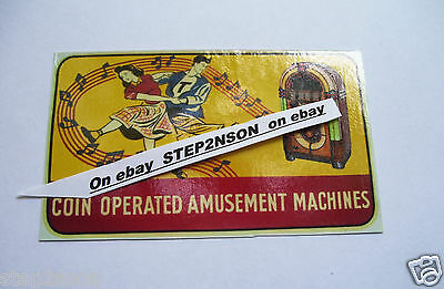 Wurlitzer 1015 Jukebox machine Waterslide Decal  Juke Box 1946 Coin Amusement