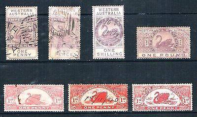 Western Australia, a selection of Revenue Duty Fiscal Stamps.