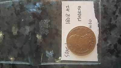 1808 Spanish Gold coin