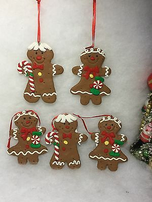 Gingerbread Boy And Girl Cookie Christmas Tree Ornaments