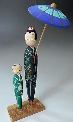 Nice Condition Very Delicately Made Japanese Sosaku Kokeshi Wood Doll 20cm 8""