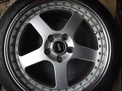 Simmons FR18 1 Piece 4x 18 x 8.5 Rims With Tyres Suit Commodore VN - VZ