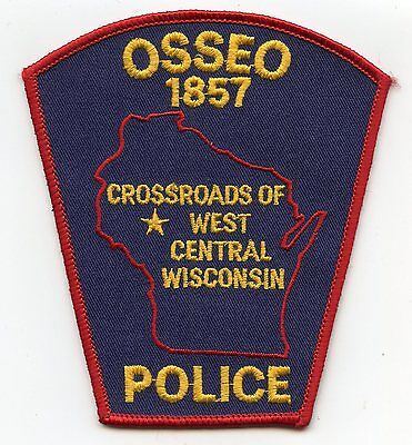 OSSEO WISCONSIN WI Crossroads of West Central Wisconsin POLICE PATCH