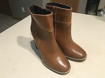 """STEVE MADDEN Women's """"Kaysum"""" Brown Leather Ankle Bootie Size 7.5 (NEW!)"""