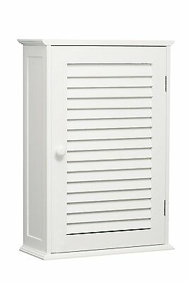 Bathroom Cabinet Wall Mounted Single Shutter Door White Storage By Home Discount