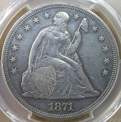 $1 1871 Liberty Seated Dollar PCGS AU Details * AvenueCoin