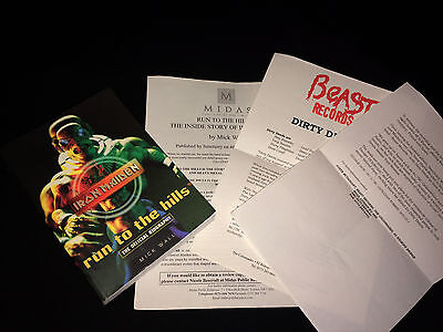 Iron Maiden Run To The Hills The Official Biography 1998 + Press Releases