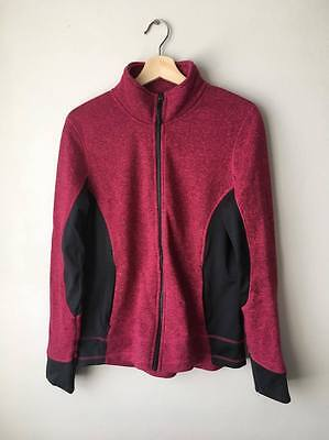 Crane Performance Womens Structured Fleece Pinky Red Jacket L