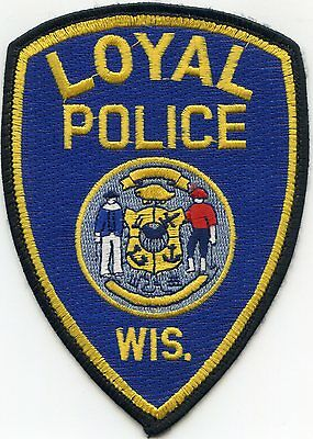 Loyal Wisconsin Wi Police Patch
