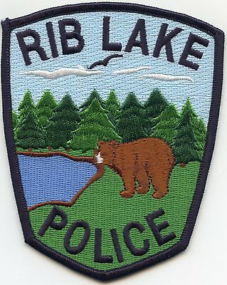 RIB LAKE WISCONSIN WI bear POLICE PATCH