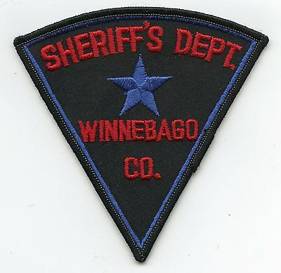 old vintage WINNEBAGO COUNTY WISCONSIN WI SHERIFF POLICE PATCH