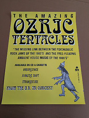 The Amazing Ozric Tentacles Original Record Store Poster