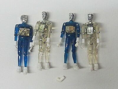 1976 Mego Corp Micronauts Time Traveler Lot 2 Blue 2 Clear with 1 Connector.