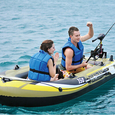 Inflatable Boat Kayak Fishing Yacht Fishing Boats Set with Oars and Air Pump Set