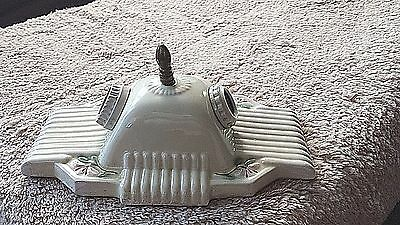 Antique Porcelier Art Deco Underwriters Laboratories 2 Light Ceiling Fixture