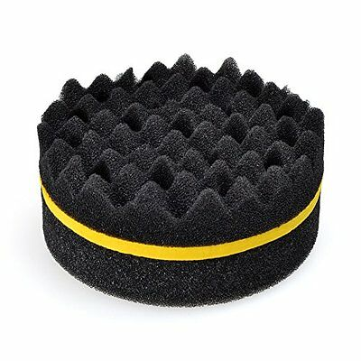Barber Wave Double Side Hair Brush Sponge Dreads Coil Locs Curl Twist Magic Tool