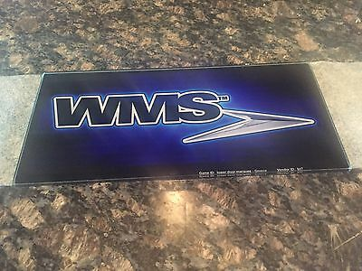 Wms Bb2 Lower Door Marque Glass Generic Wms Logo  10 Each (New)