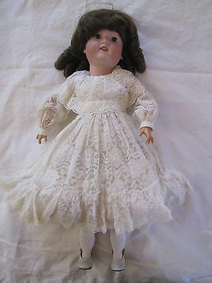 """Antique Morimura Brothers Bisque Head Doll with Jointed Wooden Body ~ 20"""" Tall"""