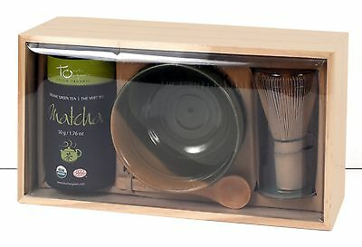 *NEW* Organic Matcha Tea Kit - Whisk, Bowl, Spoon, 50g Green Tea - Touch Organic