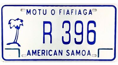 NOS UNUSED 2010 Series American Samoa License Plate #R396 No Reserve
