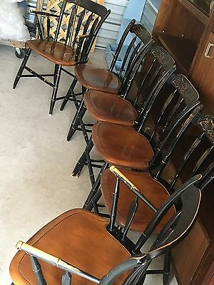 Hitchcock chair co black/harvest arrowback  set of 6 Chairs