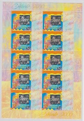 Celebrate 2000 Miniature Sheet Of 10 Stamps (Jd0071)