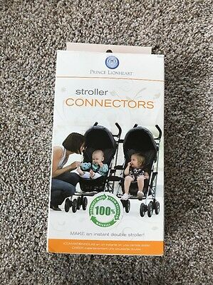 Prince Lionheart Stroller Connectors Instant Double Stroller 6550 ~ NEW