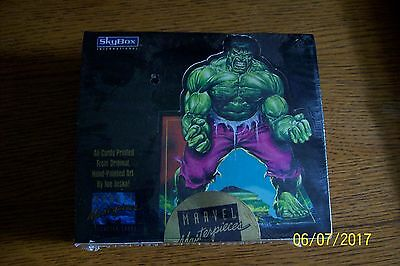 1992 Marvel Masterpieces Sealed Box Skybox /350000 Cards Hulk Spiderman Cyclops