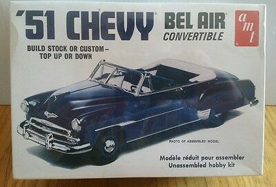 Amt 1951 Chevy Bel Air Convertible New Plastic Car Model Kit 1/25 Sealed