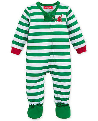 FAMILY PAJAMAS $34 NEW 0990 Striped Zip Footed Pajama Baby Toddler 2T 3T