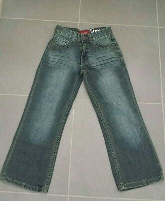 Bnwt Guess Brand Boys Size-7 Denim Relaxed Bootcut Jeans, Rrp-$40