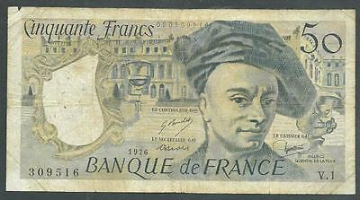 "France 1976 Fifty Francs Banknote ""new"" #b1073 Low Price & $1.00 Usa Shipping"