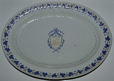 Antique 18th/19th C Chinese Export Armorial Small Platter