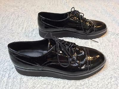 GEOX Respira Oxford Black Patent Shoes    Size: US 9 EU 39