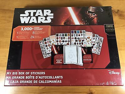 My Big Box Of Stickers Disney Star Wars The Force Awakens 3000 Stickers New Set