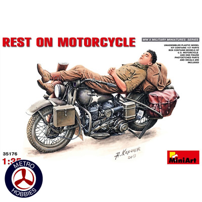 MiniArt 1/35 Rest on Motorcycle 35176 Brand New