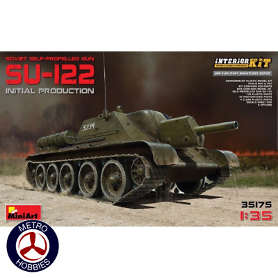 Miniart 1/35 Soviet SU-122 Initial Production with interior 35175 Brand New
