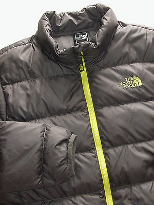 The North Face Boys 550 Down Charcoal   Jacket   Size  Large 14/16