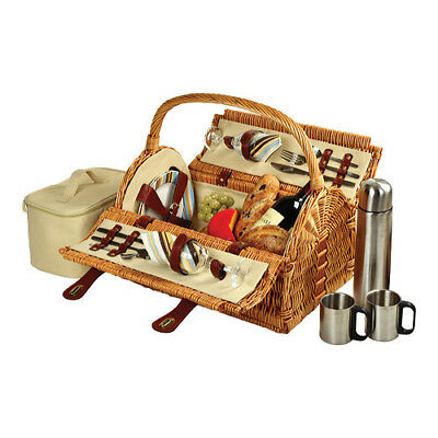 Picnic at Ascot Sussex Picnic Basket for Two with Coffee