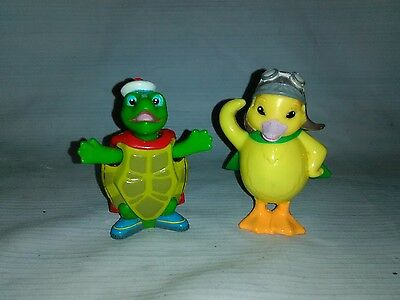 Wonder Pets Tuck Turtle and Ming Ming Duck Duckling Bobble Head Figures