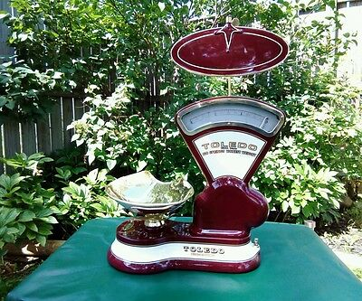 Restored Antique Toledo Candy Scale  W/ Brass Pan.
