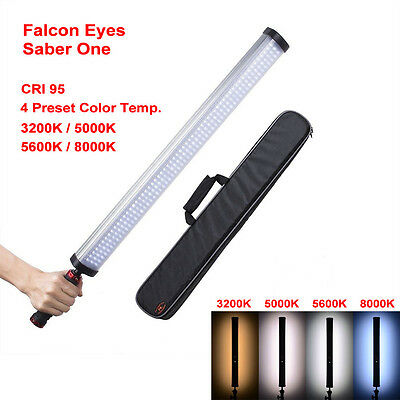 Falcon Eyes Saber One LED Handheld lVideo Light 22W High CRI 4 Color Temperatures with Dimmable Power Output Handheld LED Light Stick