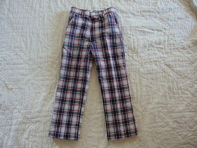 Vintage KIDS PANTS Permanent Press Plaid Size:6T