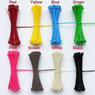 Color Nylon Plastic Cable Tie And Wide Extra Large Zip Tie Wrap 3 x 100mm