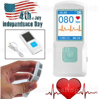 CONTEC Portable ECG Monitor PM10 with Bluetooth, Heart Beat Monitor