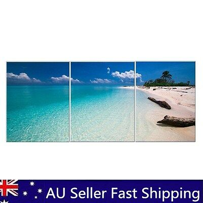 3 Panels Modern Abstract Beach Poster Art Canvas Print Painting Home Wall Decor