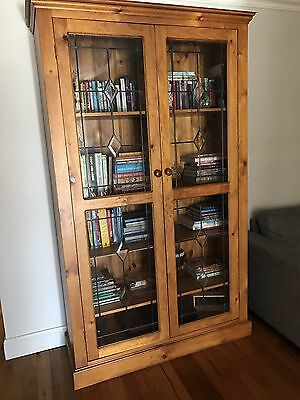 Gorgeous Timber Cabinet With Glass Doors
