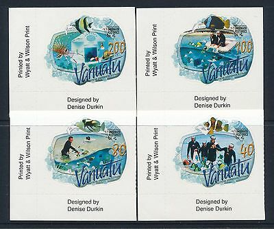 2008 Vanuatu Underwater Post Office Set Of 4 Fine Mint Mnh Self Adhesive Stamps