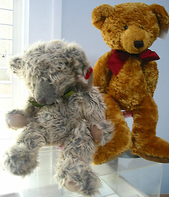"""2 Russ Berrie Soft Bears Ashton(14"""") & Wilford(17""""), NWT, Bears from the past"""